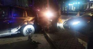 Девушка разбила три машины в Симферополе(фото)