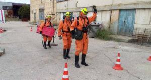 Спасатели «КРЫМ-СПАС» провели тренировку по ликвидации последствий ЧС на предприятии