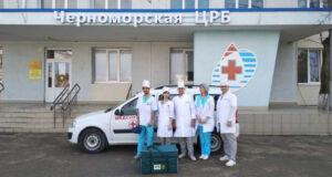 Минздрав РК: В Черноморском районе мобильные бригады медиков проводят вакцинацию населения против Covid-19