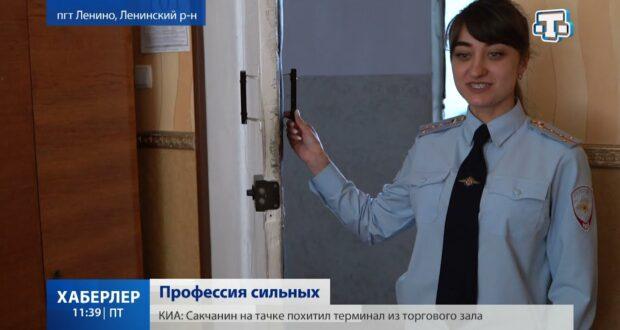 В фокусе телекамеры - майор внутренней службы Нариман Решетов