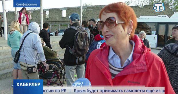 Симферопольские пенсионеры смогли увидеть репетицию парада в Севастополе