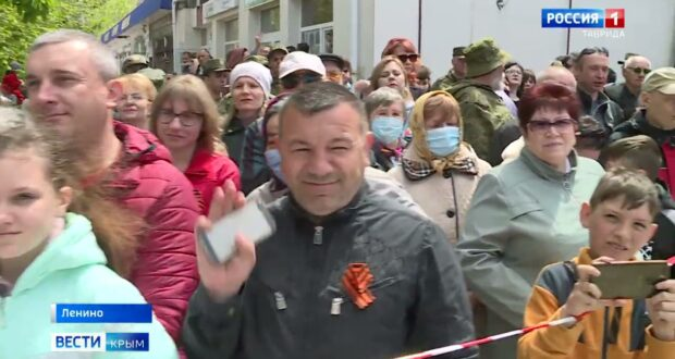 Впервые в истории посёлка Ленино прошёл Парад Победы