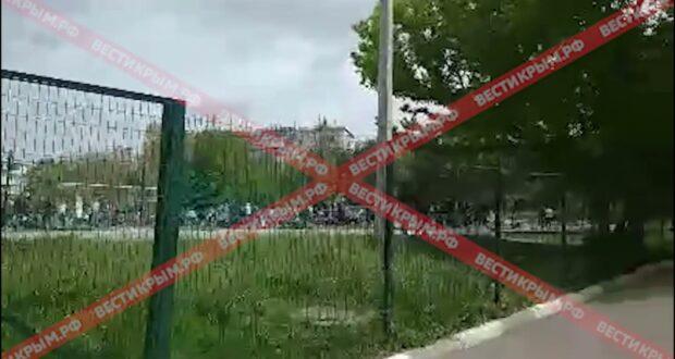 Оцепление снято: первые кадры с территории «заминированного» Таврического колледжа