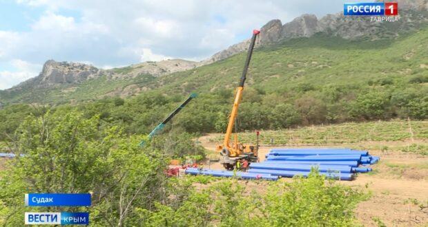 В Крыму строят новый водовод
