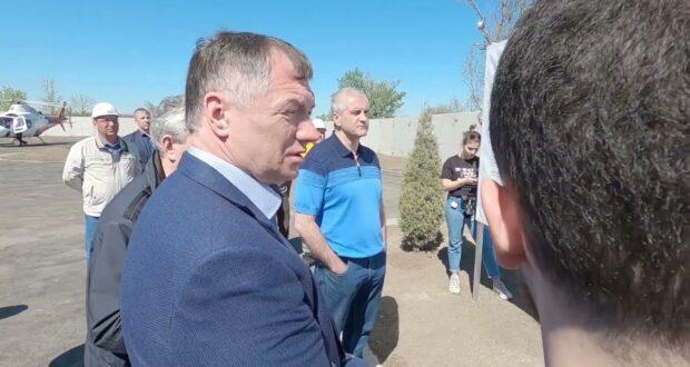 Хуснуллин посетил новый водозабор в Крыму