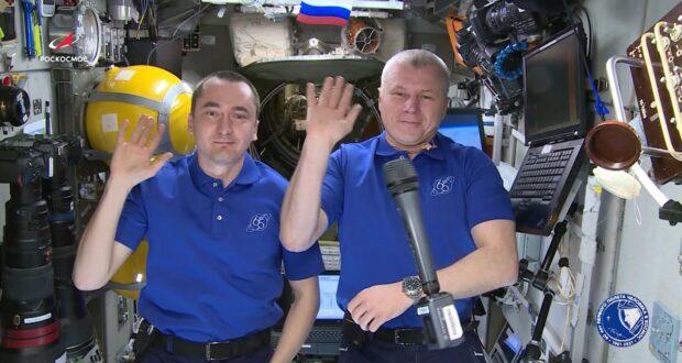 Жителей Симферополя поздравили из космоса