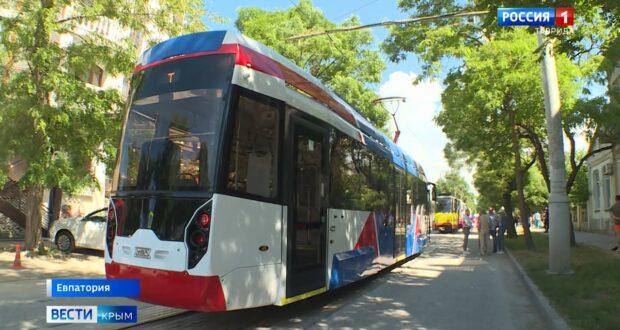Новый российский трамвай приехал в Евпаторию