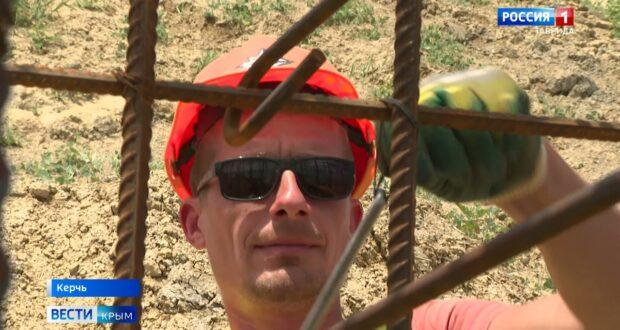В Керчи приступили к строительству берегоукрепительных сооружений