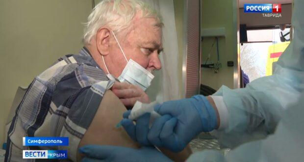 Крымчане массово вакцинируются