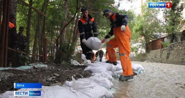 В Ялте начали компенсировать ущерб от потопа