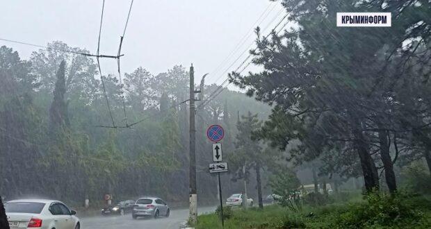 Ялту снова накрыл ливень, есть подтопления