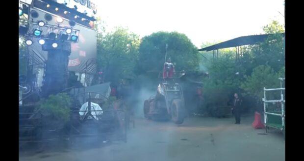 «Ночные волки» готовятся к байк-шоу у горы Гасфорта