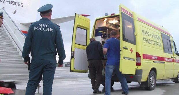 Мальчика с ожогами в тяжелом состоянии доставили из Севастополя в Москву бортом санавиации