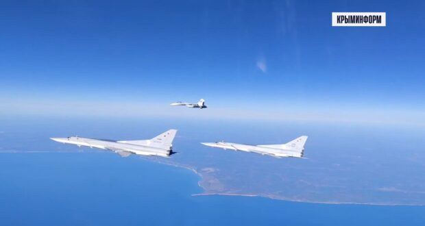Российские бомбардировщики выполнили полеты над Черным морем
