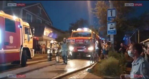 На юге Симферополя произошёл крупный пожар
