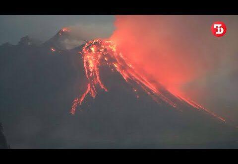 На Камчатке началось опасное извержение вулкана