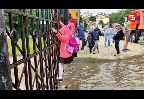 Десяток улиц Симферополя оказался под водой