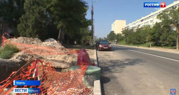 В Керчи не могут отремонтировать дорогу из-за строительства водовода