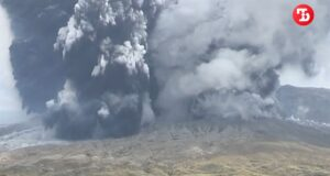 В Японии началось извержение одного из крупнейших вулканов планеты