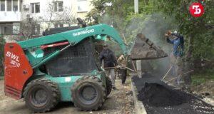 4 двора в Симферополе ремонтируют с отставанием